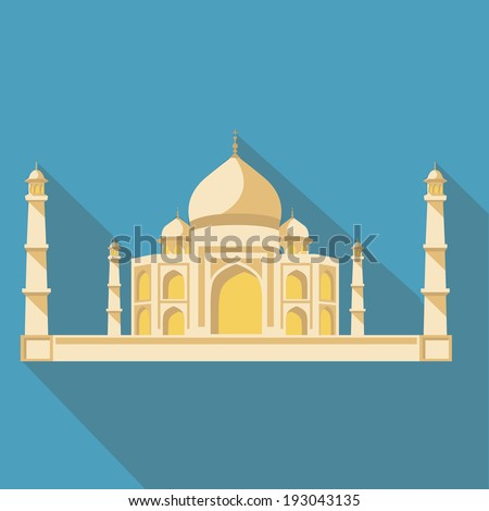 vector illustration long shadow