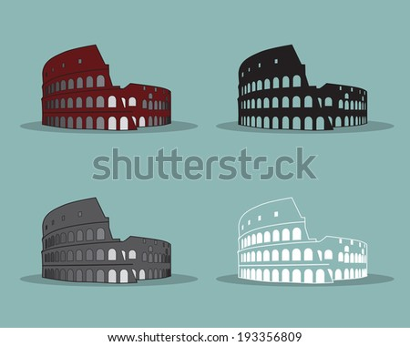 colosseum in rome vector