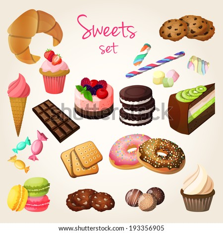 delicious sweets and fresh