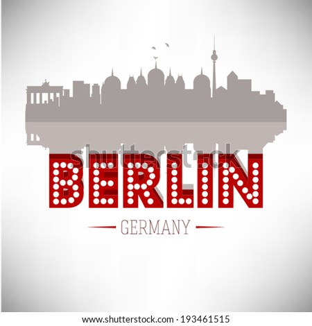 berlin germany skyline vector