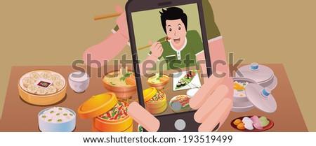 selfie food