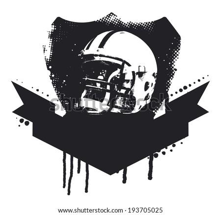 american football grunge shield