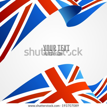 vector flag of uk isolated on
