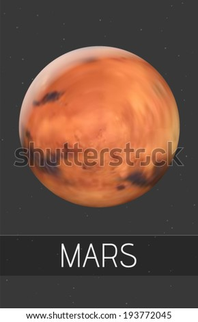 vector mars illustration