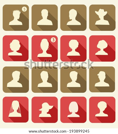 set of avatars flat design