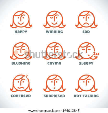 vector smiles icons