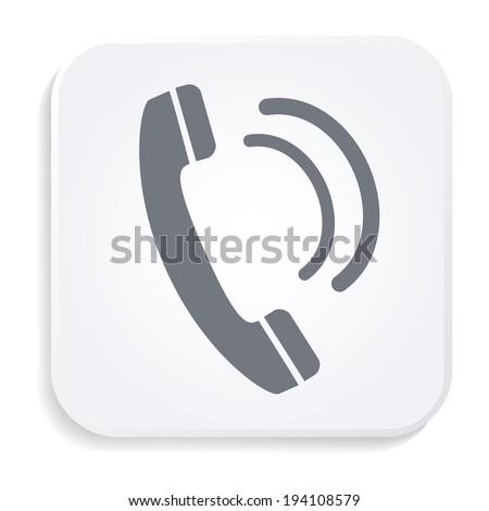 retro phone white icon