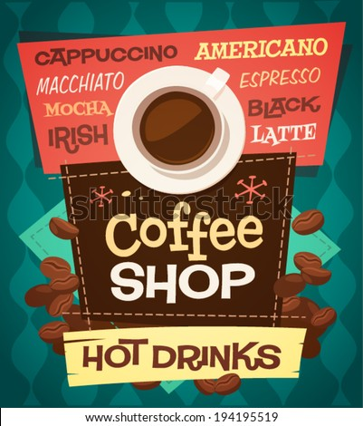 coffee background   poster