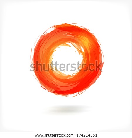 red business abstract circle