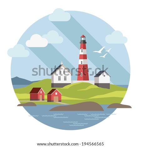 flat lighthouse   summer