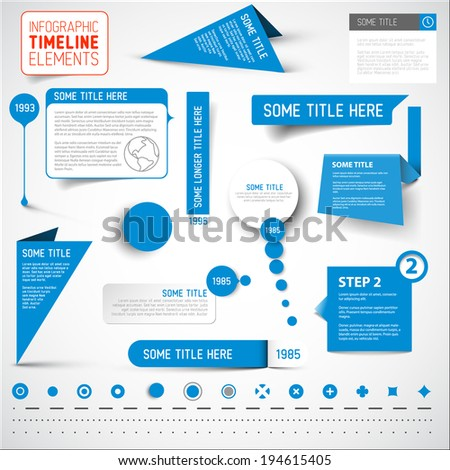 vector blue infographic
