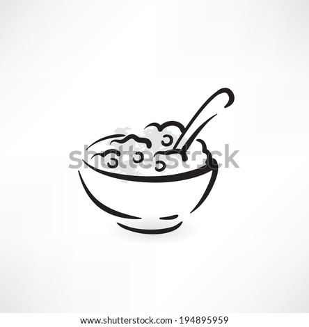 bowl of cereal icon
