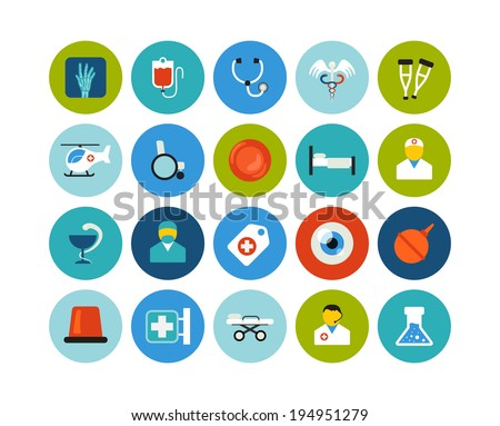 flat icons vector set 19