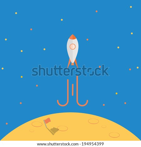 spaceship launch from planet