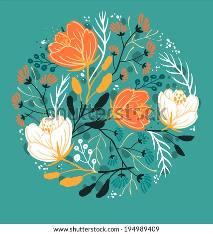 vector floral illustration of