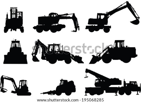 collection of silhouettes of