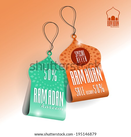 ramadan price tags vector eps