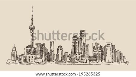 shanghai  china  city