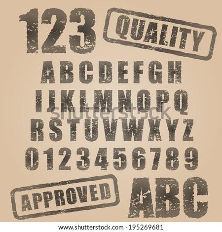 vector stamp abc
