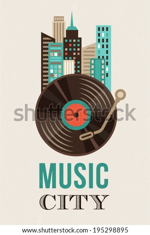 music and city landscape