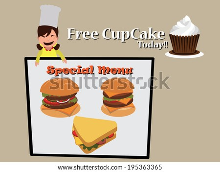 special menu burger  sandwich