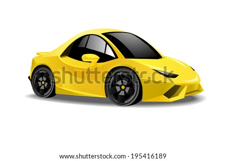 vector illustration of a yellow