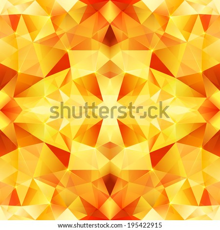 orange abstract crystal vector