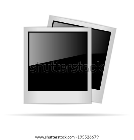 polaroid photo frames isolated
