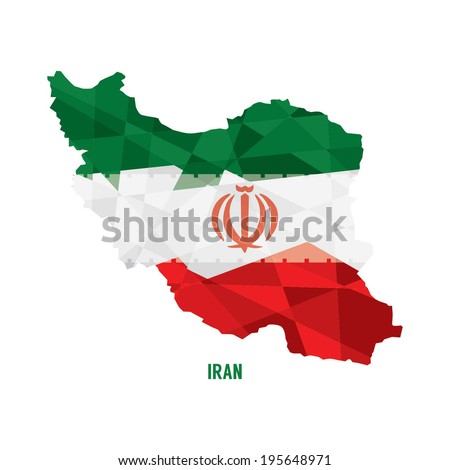map of iran vector illustration