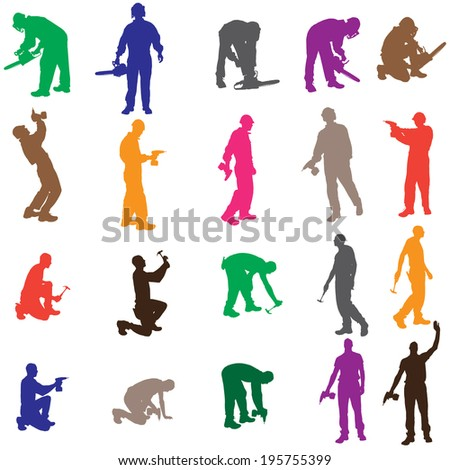 vector silhouette of a people
