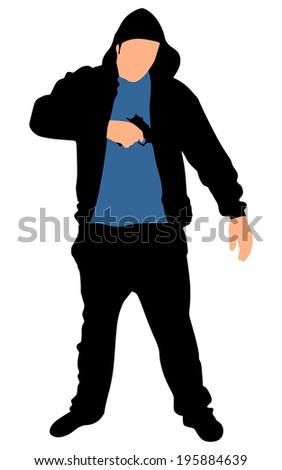silhouette of hip hop dancer