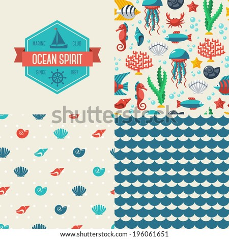 seamless patterns of marine