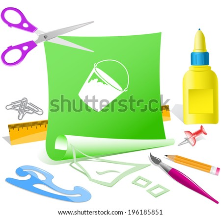 bucket paper template vector