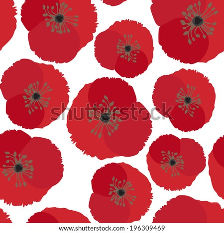 seamless background with poppy
