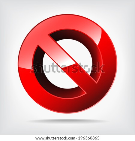 shiny forbidden sign isolated