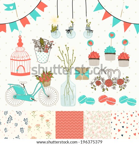 bright set for wedding design