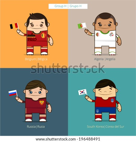 football players vector cute