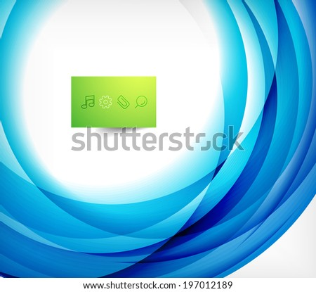 blue swirl wave abstract vector