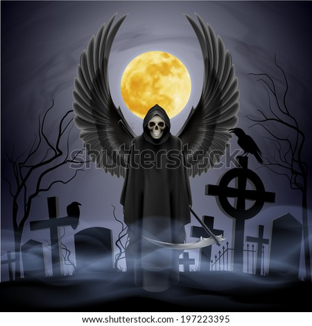 angel of death on the night