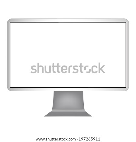 computer monitor isolated on