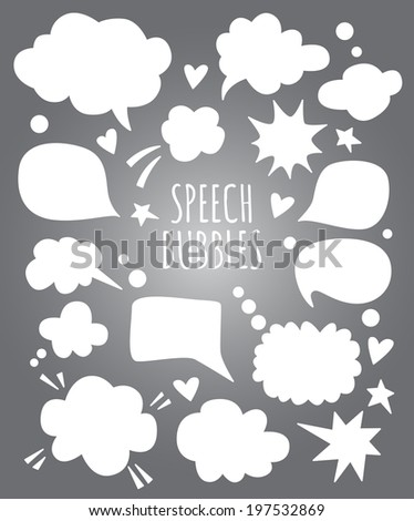 vector speech bubbles and