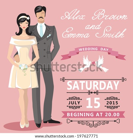 the wedding invitation with