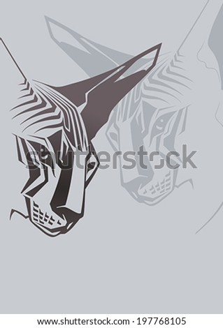 sphynx cat vector illustration