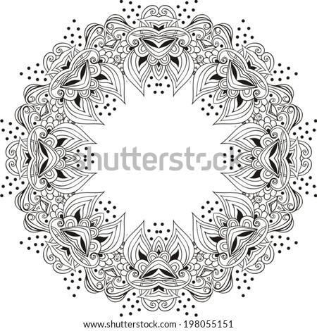 vector illustration of mandala