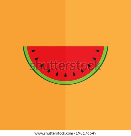slice of watermelon icon