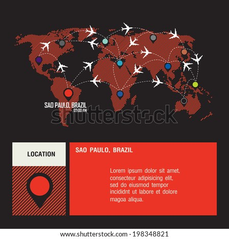 brazil vector world travel map