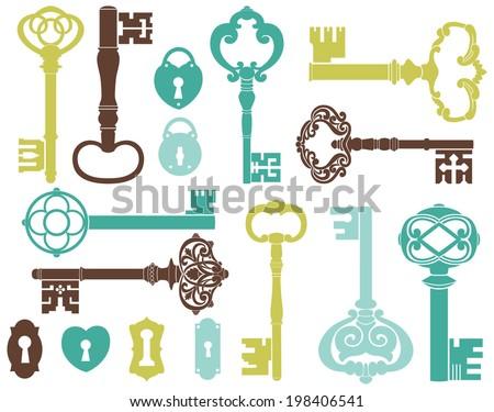 skeleton keys  blue