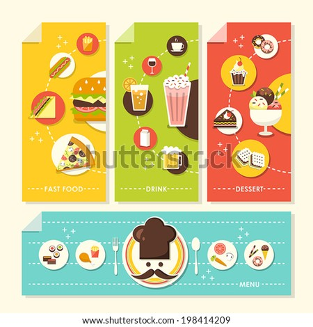 vector set of flat design