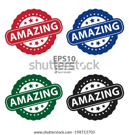 vector   colorful amazing icon
