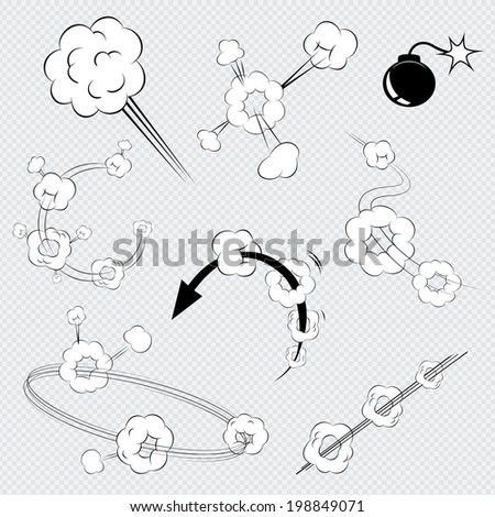 set of black and white vector